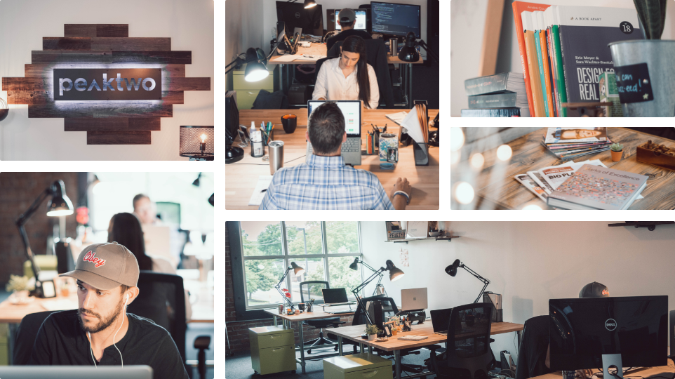 Pictures of Peaktwo's Marketing Agency Office